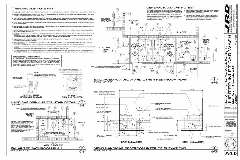 Dumpster Enclosure Floor Plan Schedules