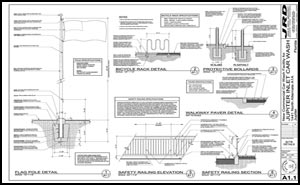 Car wash architect for Architectural plans and permits